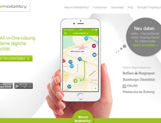 MeMobility: All-in-One Lösung für flexible Mobilität